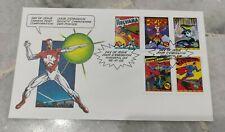Marvel Comics Super Heroes Canada stamp FDC 1995 - Superman Captain Canuck