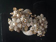 Vintage MIRIAM HASKELL Cuff Bracelet Strass, Wired Bead, Montee