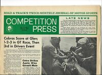 Lot/2 Motor Racing papers.National Speed Sport News('68);Competition Press(1963)