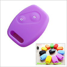 Car key silicone shell cover case Honda Accord Civic Fit CRV Odyssey CITY Purple