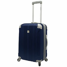 """Beverly Hill Country Club Malibu Newport 24"""" Navy Light Spinner Luggage Suitcase"""