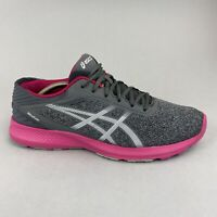 Asics Nitrofuze Gel T6H8N Grey Pink Gym Running Trainers Shoes Size US11.5 UK9.5
