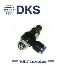 Air Flow Valve Push In Pneum Fittings 1/4 BSPT to 6mm Fitting Speed Contr 001694