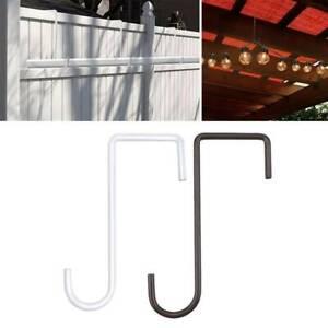 6x Steel Hanging Basket Brackets Outdoor Garden Plant Hook Hanger Decor Gift