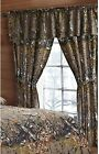 The Woods Natural Green Camouflage 5-Piece Curtain Set Hunters Cabin Rustic Camo