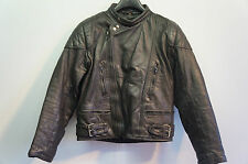 VINTAGE SPORTEX LEATHER MOTORCYCLE JACKET SIZE 38