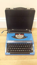 Silver Reed Blue Silverette II 2 Typewriter, Vintage, Rare Blue