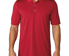 Adidas ClimaCool 2-Color Pencil Stripe Polo (M) AF0636 Red