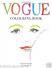 VOGUE Vintage Fashion Designer Dior Chanel Adult Colouring Book Valentine Gift