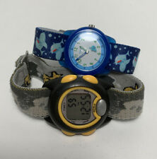 2 Timex Kids Boys Watches Analog Digital Watch Lot Set New Batteries Clean
