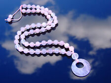 Rose Quartz Crystal Natural Gemstone Macrame Necklace Healing Stone Chakra Women