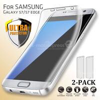 2x Full Body Edge-to-Edge Clear Screen Protector Guard Samsung Galaxy S7/edge S8