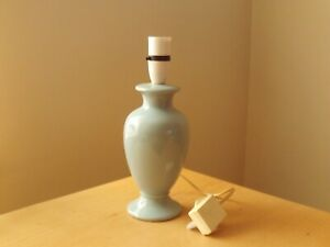 Vintage BHS Ceramic Pale Blue Table Lamp.