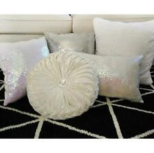 Home Decorative Silver/White Filled Pillow / Sequin Cushion Cover