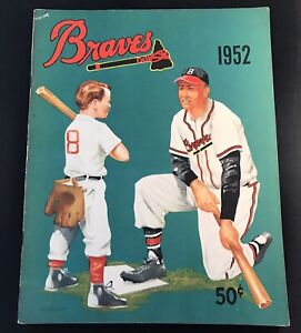 1952 Boston BravesYearbook  Warren Spahn/Mathews Last Year in Boston Scarce Ex+