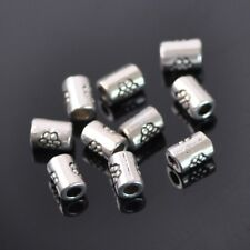 50pcs 4x5mm Iron Silver Barrel Shape Metal Craft Loose Spacer Beads 65#