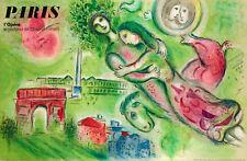 Affiche Originale - M. Chagall - Opéra Garnier Paris - Roméo et Juliette - 1964