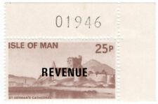 (I.B) Elizabeth II Revenue : Isle of Man 25p (St German's Cathedral)