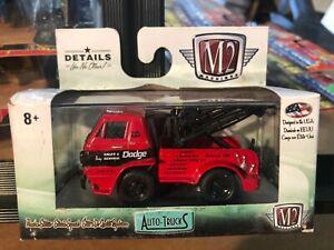 1/64 M2 AUTO TRUCKS 1966 DODGE COE L600 TOW TRUCK RED AND BLACK