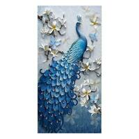 Peacock Full Drill DIY 5 D Diamond Painting Embroidery Cross Stitch Large Size