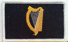 The Green Harp Flag IRISH Iron-On Patch Ireland Biker Emblem Tactical Military