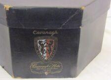 Vintage Cavanagh Hats Ny Usa Hat Box Black Cardboard Octagon Shape