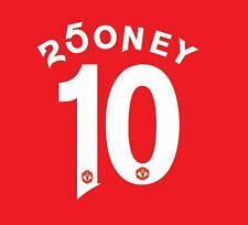Rooney 250th but manchester united 2016-17 home football nameset pour chemise