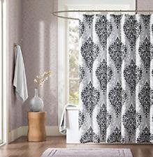 "*Intelligent Design Senna Shower Curtain 72x72"" Black/White NEW"