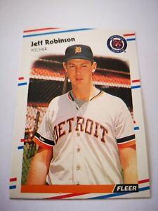 Fleer 1988 carte card Baseball MLB US NM+/M Detroit Tigers #68 Jeff Robinson