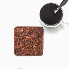 Shanghai map coaster One piece  wooden coaster Multiple city IDEAL GIFTS