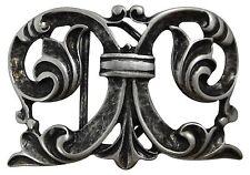 FRONHOFER Boucle de ceinture avec grandes Ornement, argent vieilli, Femmes, 4 cm
