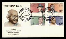DR WHO 1966 BURKINA FASO FDC JOHN F KENNEDY JFK GANDHI PORTRAIT COMBO  g03477
