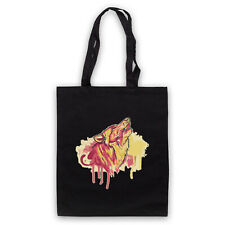 WOLF SPRAY PAINT GRAFFITI GRAPHIC ART COOL RETRO SHOULDER TOTE SHOP BAG