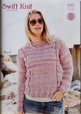 "Stylecraft Knitting Pattern Astrakhan Hood Jacket Super Chunky Girls 22-32/"" 8651"