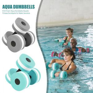 2x EVA  Aquatic Barbell Water Aerobics Dumbbell Aqua Fitness Pool Exercise