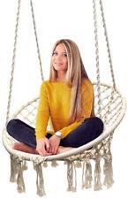 Hammock Chair Macrame Swing Seat Hanging Indoor Outdoor Home Patio Deck Garden
