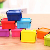 1/20x Plastic Rectangle Desk Storage Box Case Container Organizer Mini With Lid