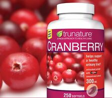 Trunature Cranberry 300 mg Extract Healthy Urinary Tract 250 Softgels ***NEW***