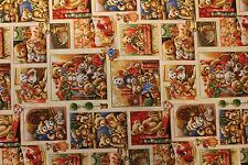"""Fabric """"Bear Hugs"""" by Fabri-Quilt cotton fabric quilting or sewing by the yard"""