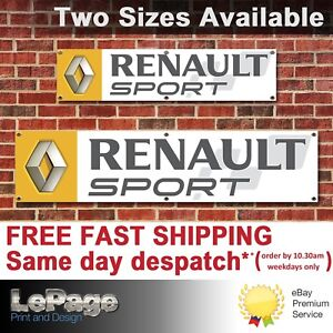 Renault Sport Banner, for Workshop, Garage, Man cave, Showroom