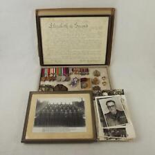 WW2 Medal Set Plus Badges, Photographs Etc-  W.O. II (C.S.M) M.W.F. Pettet - Roy
