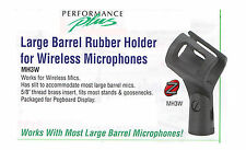 Microphone Clip Standad Barrel slide in Ruber grip good for wireless    MH-3