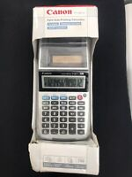 Canon Palm Size Printing calculator P1-DH V 12 Digits Time New In Box