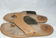 Men's Margaritaville Monte Cristi Size 13 Brown Flip Flop Sandals Shoes msrp $69