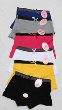 Lot 6 prs Womens Sports YOGA COTTON BOXER Boyshorts Underwear PANTIES XL size 7