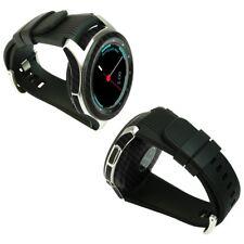 Skinomi Black Carbon Fiber Skin+Screen Protector for Samsung Galaxy Watch 46mm