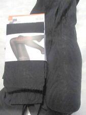 Muster Strumpfhose XL 46 48 50 BLICKDICHT Schwarz Ton-in-Ton leicht.Glanz 80DEN