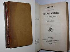 P. LAMI - RESUME DE L'HISTOIRE DE PICARDIE - 1825