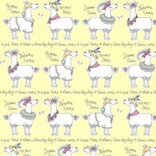 llama-rama Papier peint jaune - Belgravia 9732 Llamas