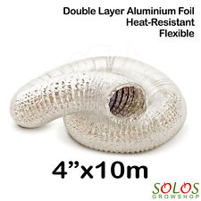 "4""/100mm ALUMINIUM DUCTING HYDROPONIC AIR DUCT FAN CARBON FILTER GROW TENT"